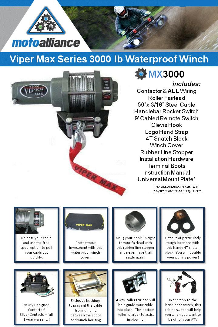 ATV Parts ATV Tires ATV Wheels ATV Accessories: Viper MX3000 ... on
