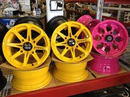 Custom Colored Wheels Done
